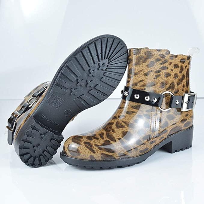 botas de agua leopardo mujer
