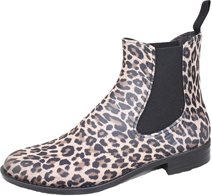 Botines goma leopardo