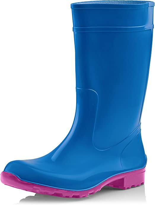 bota de agua azul